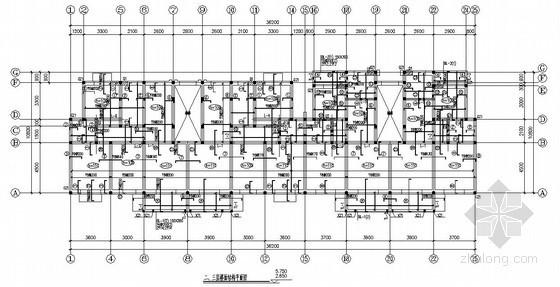 砌体结构住宅楼结构施工图(六层 条形基础 原创)
