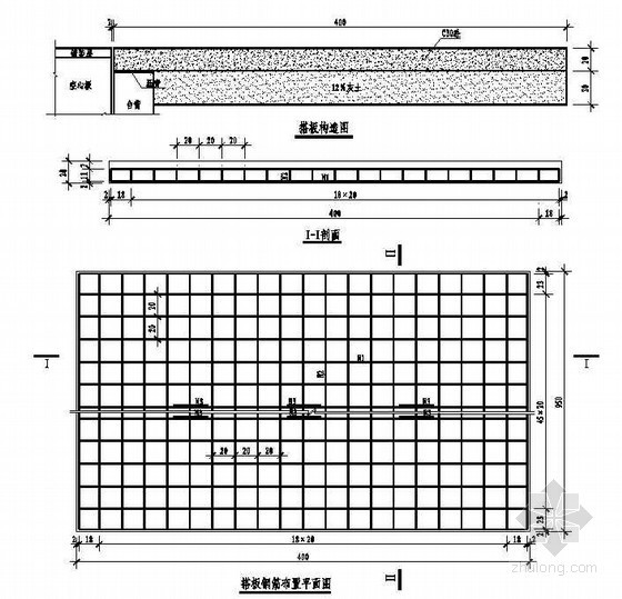 2×8m空心板桥搭板构造配筋节点详图设计