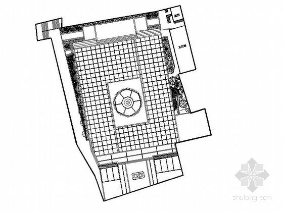 城市临街附属广场园林景观工程施工图