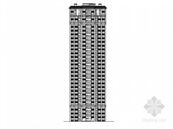 [贵州]高层框剪结构面砖外墙商用住宅建筑施工图(含多套方案)