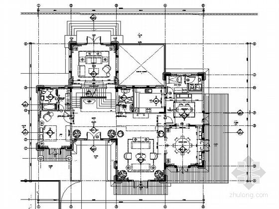 [江苏]精品别墅样板间室内设计施工图(含效果)