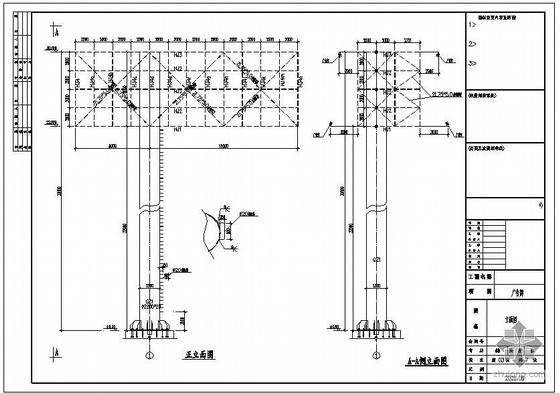 某钢结构广告牌结构设计图(含计算书)