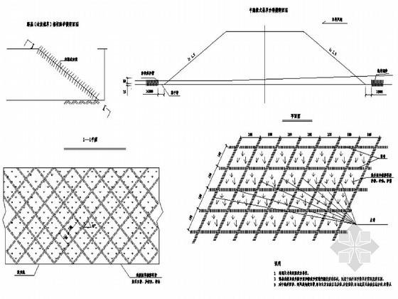 水土保持护坡及路基防护工程设计节点详图