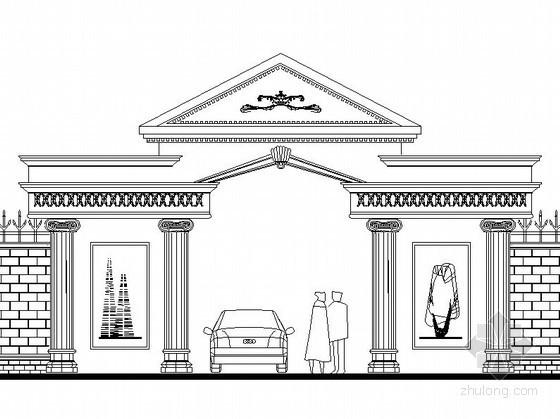 现代造型大门设计图