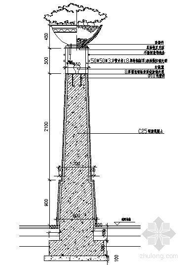 景观灯柱结构详图