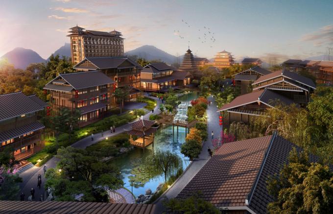[广西]首家侗族风情村寨特色古镇旅游度假村景观设计方案(2016最新)