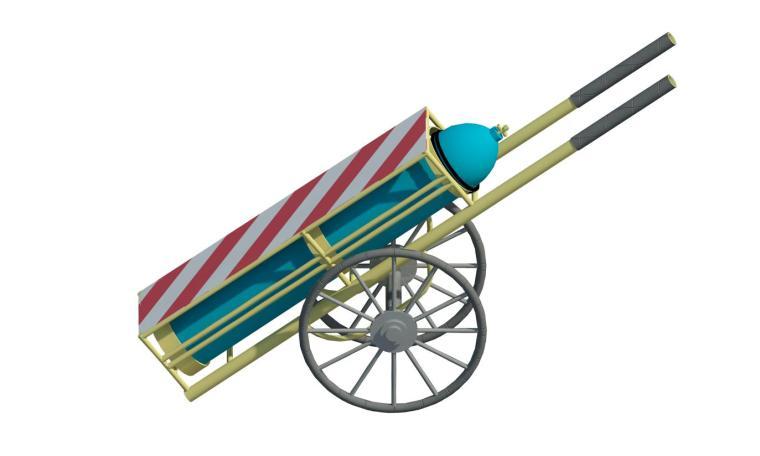 revit族-氧气乙炔推车
