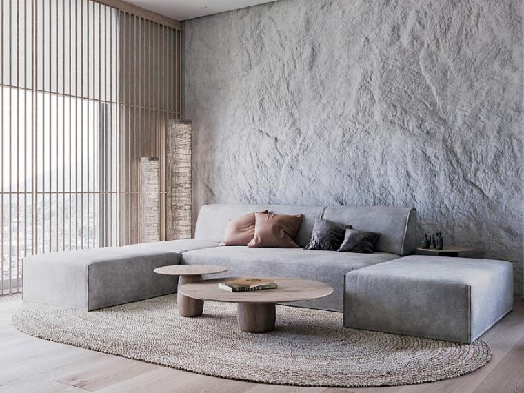 瑞士86㎡日系灰白单身公寓