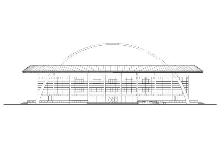 洛阳网球馆施工图(清华大学建筑院含结构图纸)