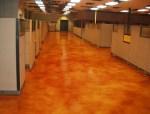 仿瓷砖酸着色混凝土地坪