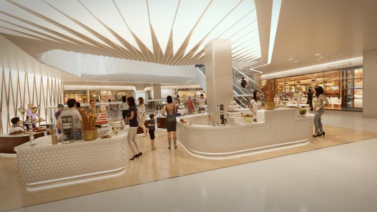 荷兰UNStudio商场中心设计施工图丨附效果图+机电设计+标识设计-10