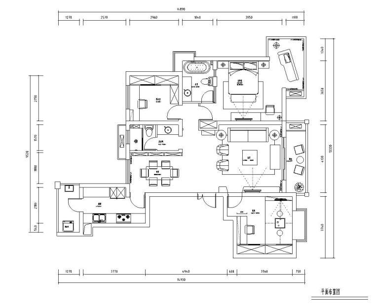 [江苏]常熟世茂三期现代简约风格现代简约室内施工图设计(附实景图)