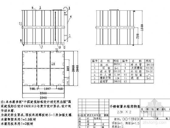 不锈钢水箱结构设计图纸