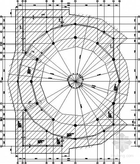 中学圆形体育操场结构施工图