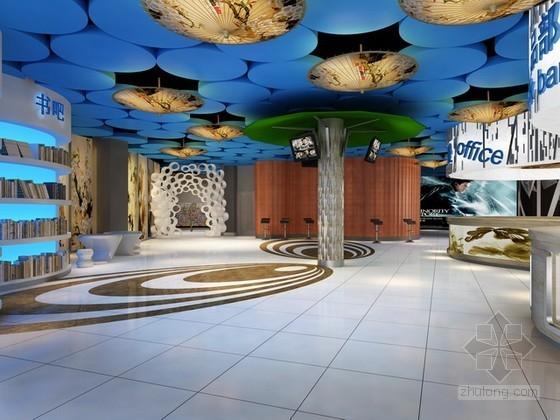 超现代风格电影院大厅3d模型下载