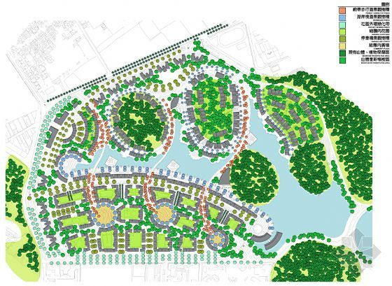 佛山居住区景观概念性规划设计