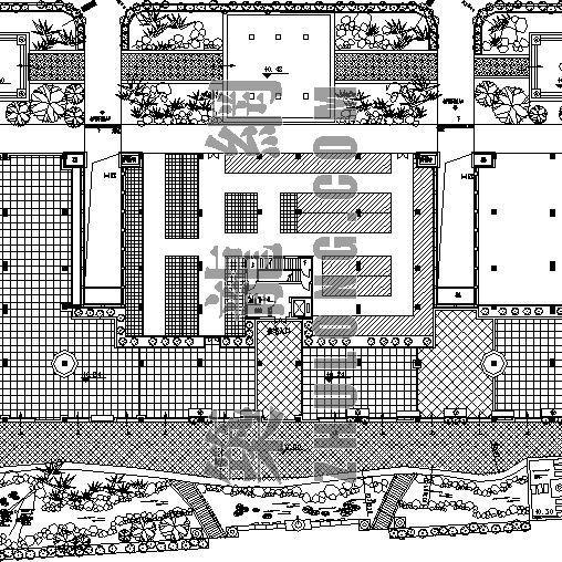 小区绿化种植施工图