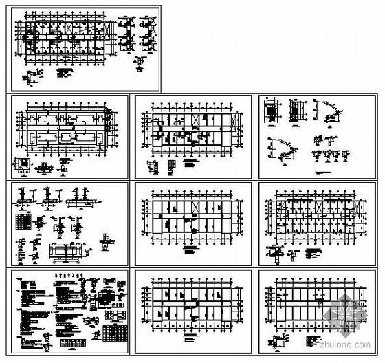 天津市某三层砖混办公楼结构图