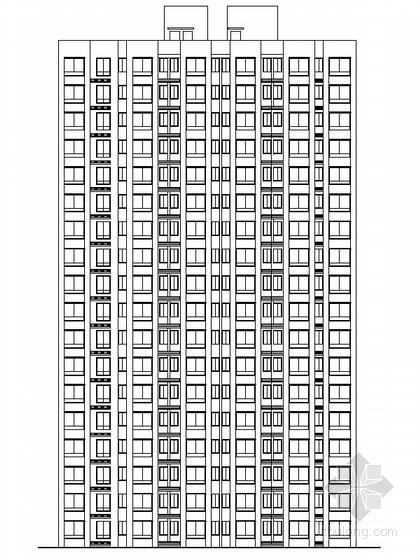 [安徽]高层现代风格住宅区规划设计施工图(含20栋楼图纸)