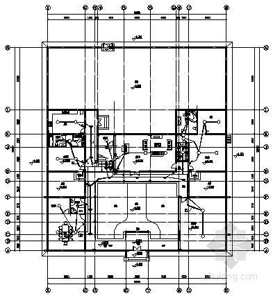 两层四合院电气平面图纸