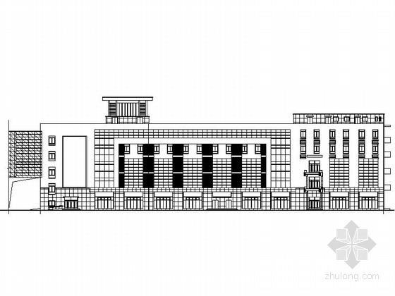 [江苏]5层现代风格装饰材料市场建筑设计施工图(含效果图)