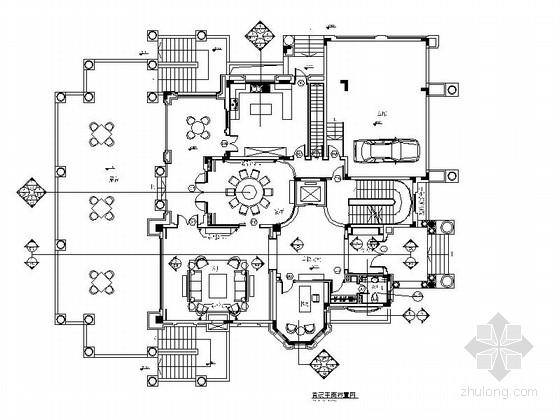 [深圳]欧式风格豪华三层别墅室内CAD装修施工图