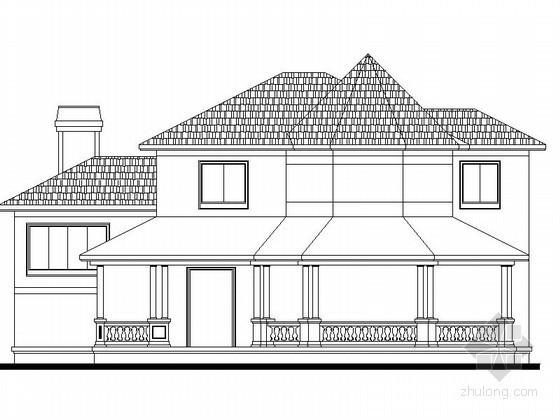 某二层乡村别墅建筑方案图(403平方米)