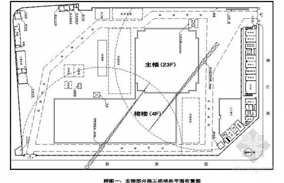 [安徽]生产调度楼施工现场平面布置图、施工进度计划图