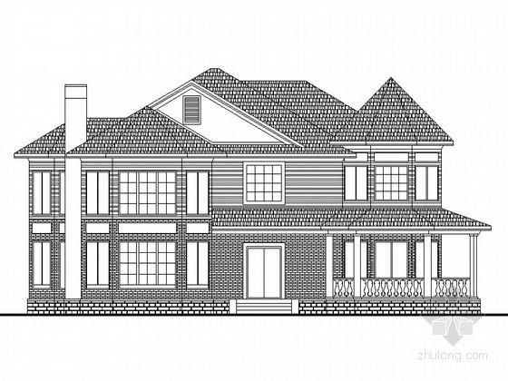 某二层(H型)高档别墅设计图(含效果图)