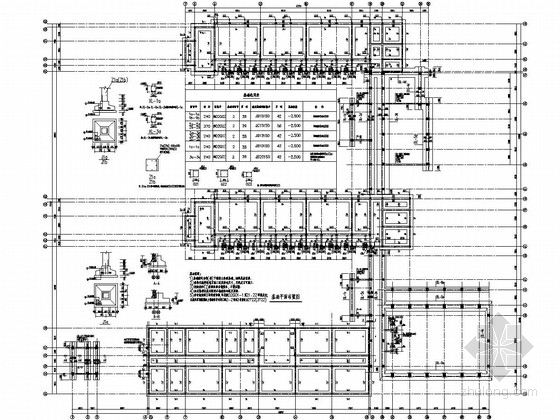 [陕西]两层砖混及部分框架结构小学教学楼结构图