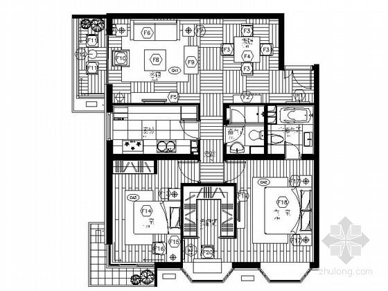 [北京]花园小区现代高档两室两厅装修图