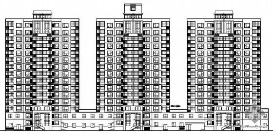 [盘锦]某新村十五层住宅楼建筑施工图