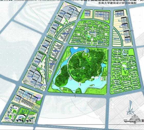 浙江商品批发市场景观规划三个方案和建筑方案