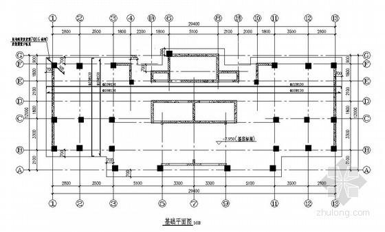 [烟台]框剪结构住宅楼施工图(16层 筏板基础)