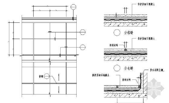 保护层分仓缝和分格缝的设置