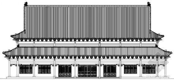 某寺院殿古建筑施工图