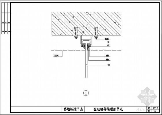 某全玻璃幕墙标准节点构造详图