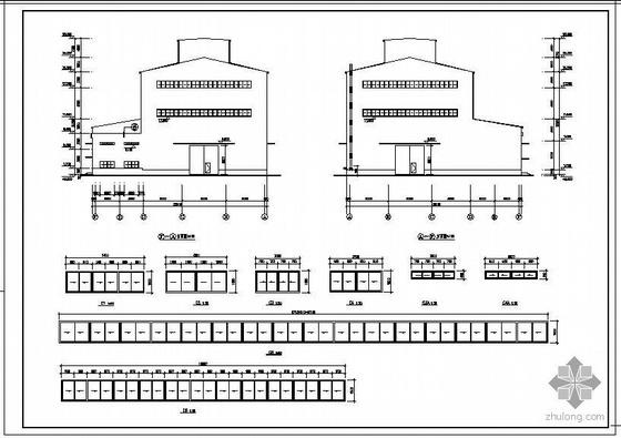 某50吨重级吊车炼钢厂房钢排架结构设计图