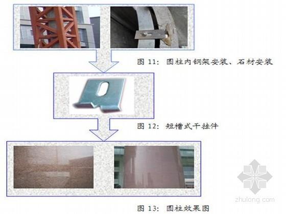 [QC成果]确保大直径圆柱厚重石材干挂施工