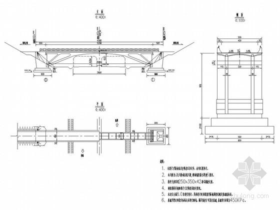 [湖北]50m钢筋混凝土上承式刚架拱桥通用标准图(天桥)