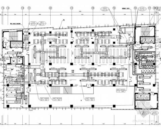 [四川]文体建筑群暖通空调及通风排烟系统设计施工图(冷热源机房)