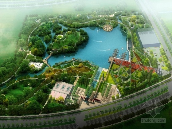 [哈尔滨]体育运动公园景观设计方案(较全)
