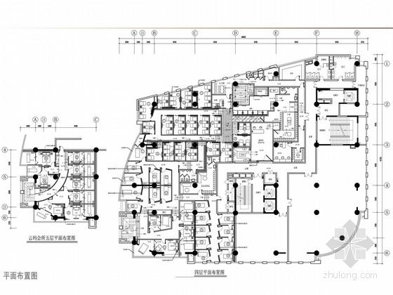 [上海]高档商务休闲会所室内设计概念方案图