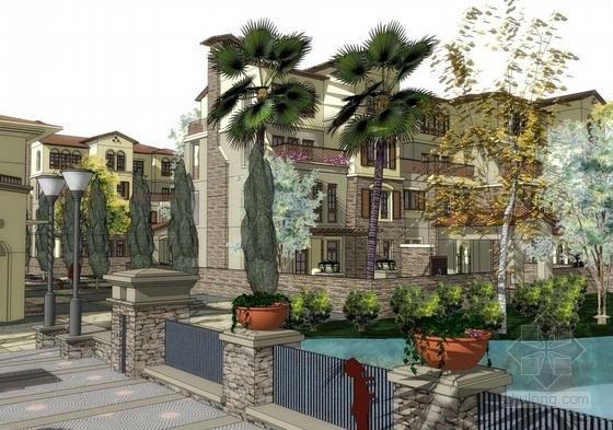 [苏州]托斯卡纳风格低密度别墅区规划设计方案文本(两种方案)-托斯卡纳风格低密度别墅区规划效果图