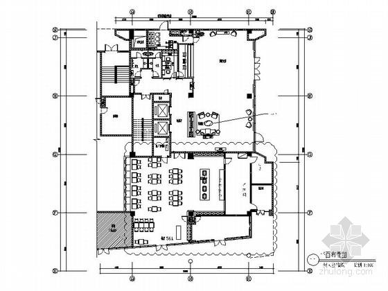 [原创]商务酒店大堂及餐饮空间装修施工图(含效果图)