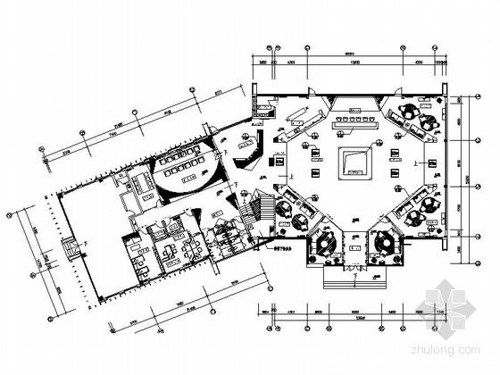 [厦门]临近滨湖高档现代风格售楼处室内设计装修施工图
