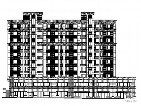 [大连]某十层底商、一梯三户住宅楼建筑施工图