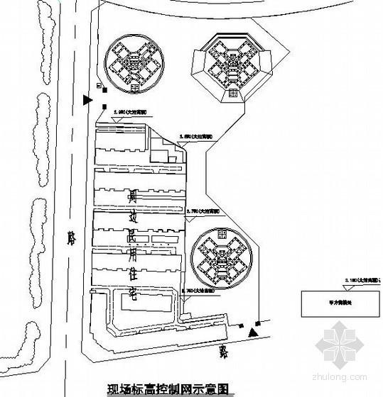 [天津]住宅工程测量施工方案(布置图)