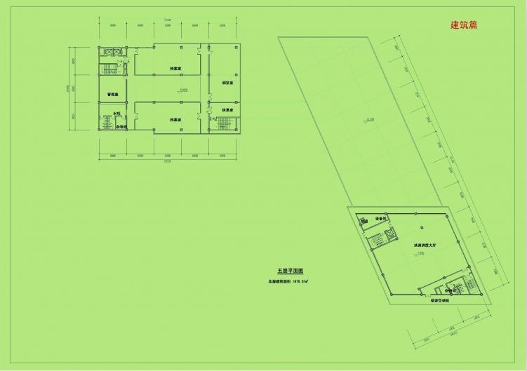 [重庆]高层金属板幕墙办公楼建筑设计方案文本-高层金属板幕墙办公楼建筑平面图