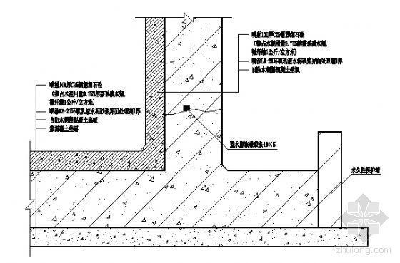 地下室背水面防水构造图3